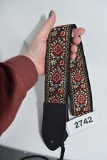 More details for clearance deal guitar strap zen blossom on black stunning design bargain offer