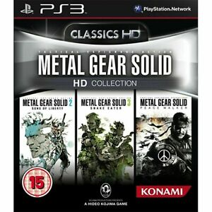 Metal Gear Solid Classics HD Collection PS3 PAL UK ENGLISH **NEW SEALED**