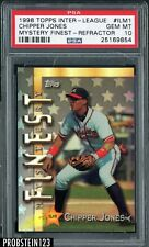 1998 Topps Inter-League Mystery Finest Refractor Chipper Jones HOF PSA 10