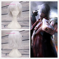 Devil May Cry Vergil Short Silver Gray Cosplay Party Wig Hair +a wig cap