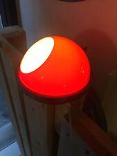 LAMPADA DA TAVOLO 50s ITALIAN DESIGN PERSPEX OTTONE BRASS UFO TABLE LAMP