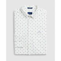 Gant Shirt - Gant Men's Oxford Paisley Print Shirt Eggshell