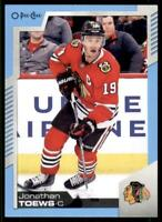 2020-21 UD O-Pee-Chee Blue Border #191 Jonathan Toews - Chicago Blackhawks