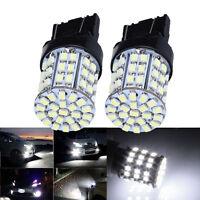 2Pcs T20 W21W 7443 7440 LED 64-SMD 1206 Tail Stop Brake Light Bulb Lamp White t#