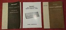 Sharp Pocket Computer PC-1211 Original Instruction Manuals X 3