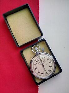 Soviet/Russian 16 jewels AGAT Stop Watch Chronometer two-butt(, 60-min / 60-sec)