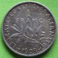 FRANCE 1 FRANC SEMEUSE 1909