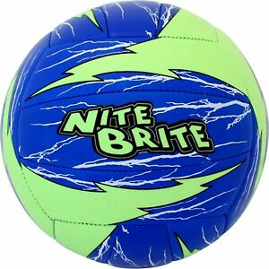 New Baden Nite Brite Glow in the Dark Volleyball Official Size Green/Blue