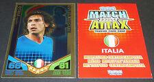 PIRLO ITALIA ITALIE VEDETTE TOPPS MATCH ATTAX CARD GAME FOOTBALL 2010 PANINI
