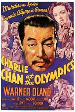 CHARLIE CHAN AT THE OLYMPICS Movie POSTER 27x40 Warner Oland Katherine DeMille