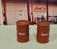 TWO 50 GALLONS MOBIL OIL DRUMS  1:24  G SCALE NEW
