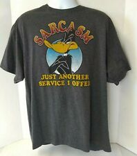 Looney Tunes 2XL T Shirt Sarcasm Just Another Service I Offer