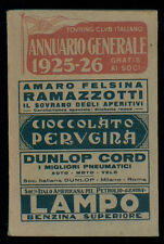 TOURING CLUB ITALIANO ANNUARIO GENERALE 1925-26