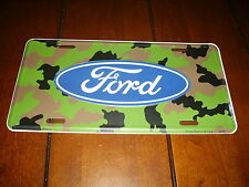 FORD CAMO  LICENSE PLATE -BRAND NEW-  OFFICIAL LICENSED PRODUCT