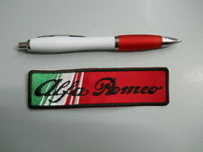 toppa patch ALFA ROMEO emblem embroidery ITALIA ricamato termoadesivo 12x3 cm