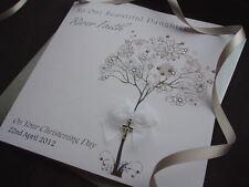 Handmade Personalised Christening/Baptism/Naming Card Son Daughter Grandson God