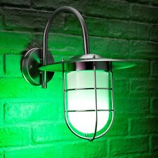 Auraglow Stainless Steel Fisherman Remote Controlled Colour Changing Wall Light