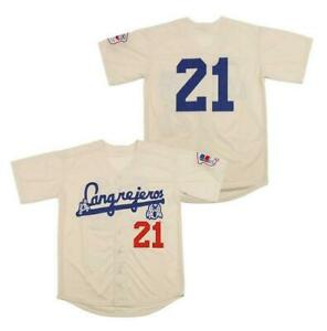 Retro Roberto Clemente #21 Santurce Crabbers Puerto Rico Baseball Jerseys Sewn