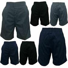 Boys Elasticated Waist Pull Up Half Shorts Childrens School Wear Uniform Shorts