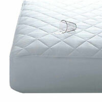 Quilted Waterproof Mattress Protector Microfibre Extra Deep 40cm Skirt All Sizes