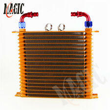 """10.6""""x12""""x2"""" AN10 Trust 19 Row Engine Oil Cooler +2pcs Fittings For Chevrolet"""