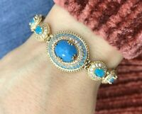 Turkish Handmade Turquoise Sterling Silver 925 Bracelet Bangle Cuff MOYB