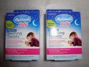 Hyland's Baby Nighttime Natural Teething 135 Tab, Sealed 2pk