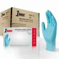 1st Choice Blue Nitrile Industrial Latex Free Disposable Gloves (Case of 1000)