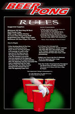 BEER PONG RULES  College Party Humor
