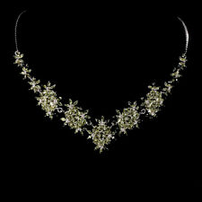 Sterling Silver 925 Genuine Natural Apple Green Peridot Necklace 193/4 Inches
