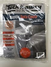 Clean Hard Plastic See-Thru Heavy Duty Clear Sofa Cover Living Room Furniture
