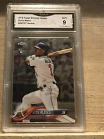 Ozzie Albies 2018 Topps Chrome Update #HMT27 RC ROOKIE CARD GMA 9 MINT - R5