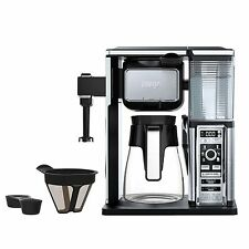 New Ninja Carafe 10 Cup Coffee Bar System Single Serve +Built-in milk Frother