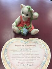 "1996 Enesco Calico Kittens ""Wrapped Up In You� 178411 With Certificate"