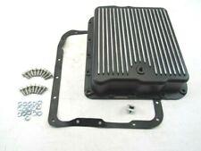 Aluminum GM 700R4 / 4L60 Finned Transmission Oil Pan Black BPE-7203BK