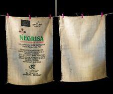 Peru Rare and unique Burlap coffee bags, Jute Bag, Used coffee bag, Zero Waste