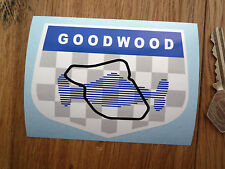 GOODWOOD CIRCUIT Les Leston Style Classic Car Sticker Race Racing British Bike