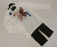 Jessica Simpson Shelly 2 Pc. Tunic w/Leopard Print Leggings Girl's Size L 14/16