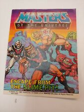 MOTU, Escape from the Slime Pit, Mini Comic Book, Masters of the Universe He-Man