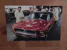 NOS 68 MUSTANG ORIGINAL FORD ISSUE SALES MAILER PHOTO POSTCARD 1968 CONVERTIBLE