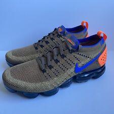 Nike Air Vapormax Flyknit 2 Brown Racer Blue Running 942842-203 Men's Size 9
