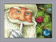 Stamped Cross Stitch Kit Santa's Secret Noël 11 ct