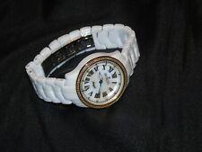 INVICTA CERAMICS WOMENS QUARTZ 32MM GOLD&WHITE CASE & WHITE CERAMIC BAND M#10325