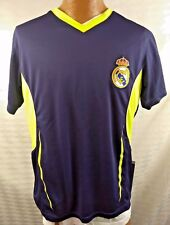 REAL MADRID JERSEY Blue w/ Neon Green Accents MCF Logo Mens M Rhinox Official