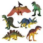 6Piece Jumbo Dinosaur Playset Toy Animals Action Figures Set T Rex Triceratops