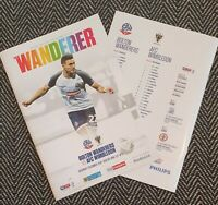 Bolton Wanderers v Wimbledon 2019 Programme 7/12/19! FREE UK DELIVERY! LAST TWO!
