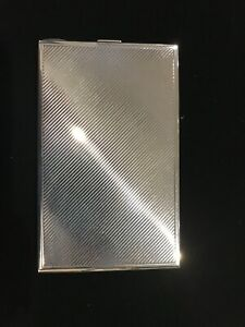 """Tiffany And Co Company Cigarette Case Large Heavy 5"""" X 3"""" Sterling Silver"""