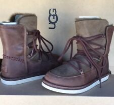 New Classic Ugg Lodge Chocolate Laced Boots Sz 5 ❤️🎁❤️
