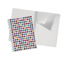 Snopake Polka Dot White A4 notebook, 140 Pages