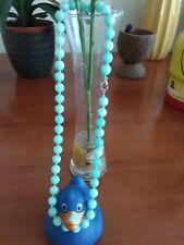 "Naturalbrazil aquamarine gemstone8mm beads necklace 18""-Handmade UK seller"